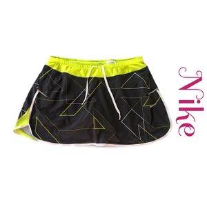 Nike Dri Fit Tennis/Golf Skort Black/Yellow Sz L